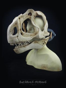 Allosaurus Skull Mask - Painted (bust) by Bueshang
