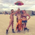 Golden nudes at burning man, 7 by TheMaleNudeStock