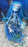Monster high custom mermaid poseidons daughter by Rach-Hells-Dollhaus