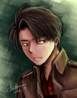 Levi in red shirt by ZaiSeChie