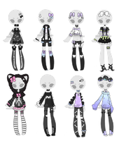 +Outfit Adoptable Mix 20 [CLOSED]  + by Hunibi