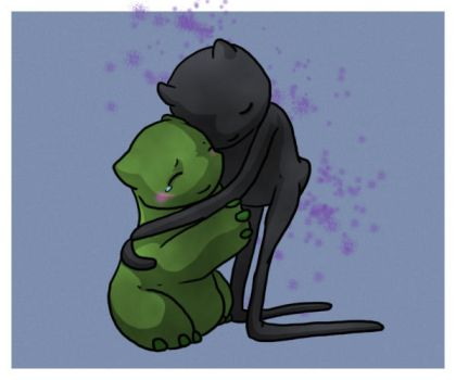 Hugs for Creeper by Endivinity