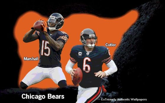 Givens87 0 Brandon Marshall Jay Cutler Chicago Bears Cave By Keiffer Boy