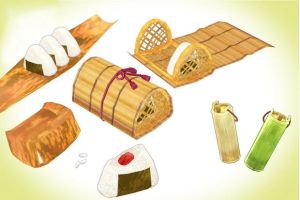 Deluxe onigiri riceball set MMD download by Hack-Girl
