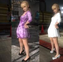 Marie Rose white and purple details by KasumiLovesmods
