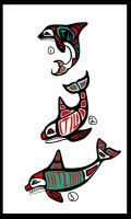 Haida-ish Orca Tattoo Designs by FavouriteKitten