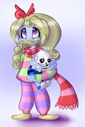 Mini!Mono Emmie with MonoSans Plush by The-real-Vega777