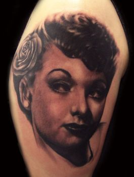 Lucille Ball Tattoo by hatefulss