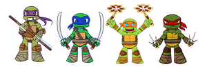 TMNT Keychains by SonicHearts