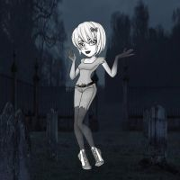 Carrie At The Graveyard by Ellecia
