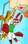 Tiff and Pojo B-ball FULL COLOR by thestooge2222