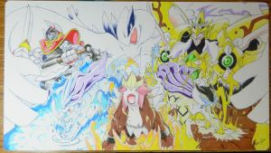 Custom Playmat: Legendary Beasts, Lugia, Vanguard by ccayco
