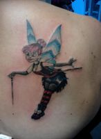 Gothic Tink Tatoo on Flesh by Gorpo