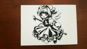 Cardcaptor Sakura Spray Paint Art by CloudsOfVision