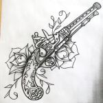 Guns and roses shaded by onfire4Him