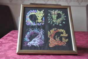 Dragon Cross Stitch by aragornsgirl333