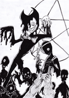 Ink monsters by Ullow