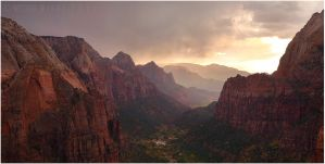 Storm in Zion by tourofnature