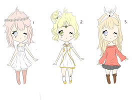 Adoptables batch 1 - Auction POINTS (CLOSED) 3/3 by Pinkiru