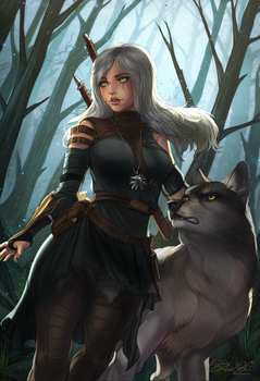 Student of the School of the Wolf by AmberHarrisArt