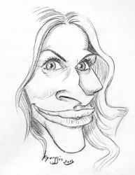 Julia Roberts caricature by kyungjin74