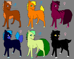 Wolf adopts -Open- by RoseandherThorns