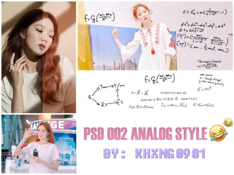 PSD 002 ANALOG STYLE - BY: KHXNG19 by khxng0901