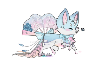Tsubomi - Ice Crystal Roses Foxfan [myo] by Lilysplash