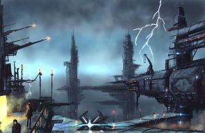 The Outer territories-  Gas Rigs by derbz