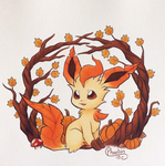 Autumn Leafeon by Phoelion