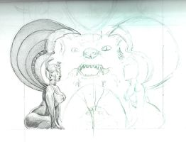 Neverending Story first scan of sketch (partial) by bookstoresue