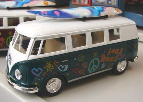 Hippie Surfer VW Van by FantasyStock