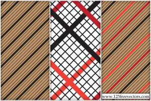 Striped Checked Pattern Vector by 123freevectors