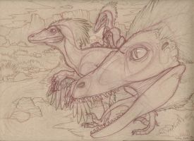 Velociraptor Sketch by toshema