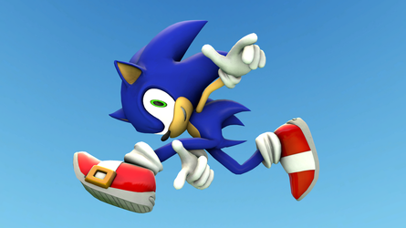 Sonic - Adventure Pose by LittleRetroBits