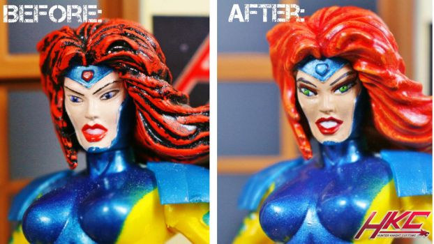 Toy Bix Jean Grey quick makeover by hunterknightcustoms