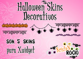 Halloween Decorativos(5 Skins Xwidget) by RoohEditions