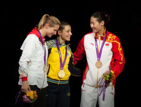 Medallists (Fencing at the London 2012 Olympics) by Sarahorsomeone