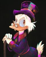 Uncle Scrooge by MissNeens
