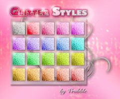 A set of Photoshop glitter styles. by SmediaDesign