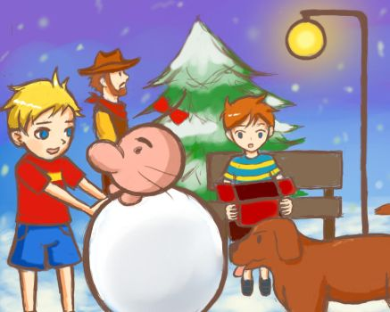Mother 3 X-mas by Masanohashi