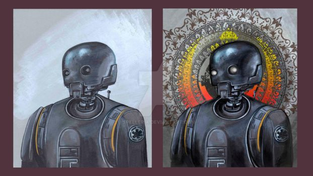 K2-SO Before and After. Timelapse Painting by spelleria