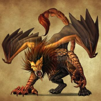 Endless Realms bestiary - Manticore by jocarra