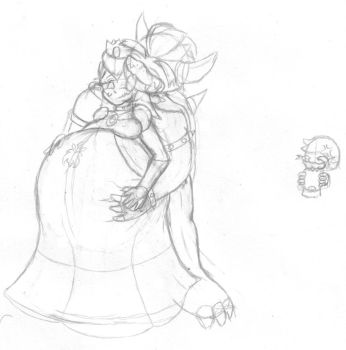 Peach and Bowser 1 by Requiem-Shade