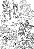 Fairy Tail - Sketches by felixne