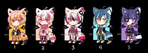 *Lowered price* Set Price Adopts | CLOSED by khatto-adopts