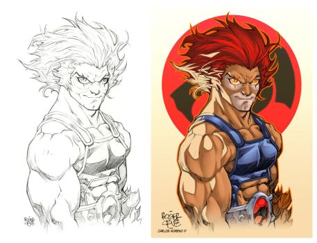 Lion O (PROCESS) by CarlosMorenoD-Art