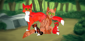 Firestar and Sandstorm's Family by Tazzy-girl