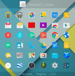 Android L Flat Icons by dtafalonso