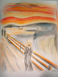 The Scream Color Pencil Style by scodex